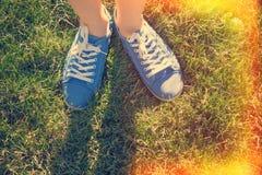 niebieskie buty Obrazy Stock