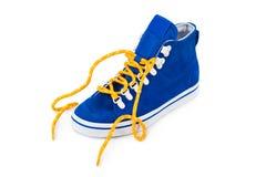 niebieskie buty Fotografia Royalty Free