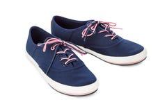 niebieskie buty sportowe Obraz Stock