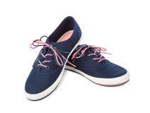 niebieskie buty sportowe Fotografia Royalty Free