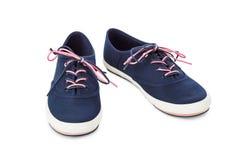 niebieskie buty sportowe Obraz Royalty Free