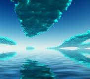 niebieskie chmury ilustracja wektor