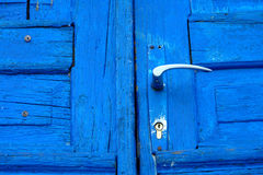 niebieskie drzwi Fotografia Royalty Free
