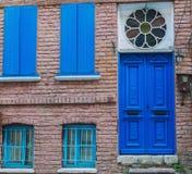 niebieskie drzwi Zdjęcie Stock