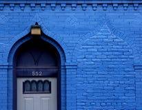 niebieskie drzwi Obrazy Royalty Free
