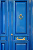 niebieskie drzwi do przodu Zdjęcie Royalty Free