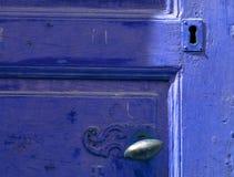 niebieskie drzwi roczne Fotografia Royalty Free