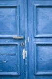 niebieskie drzwi romantyczne Fotografia Royalty Free