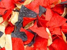 niebieskie żetonów czerwony white Zdjęcie Stock