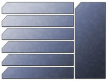 niebieskie guziki żeglugi futurystyczna witryny internetowej kamienia Fotografia Stock