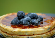 niebieskie jagodowi wafle obrazy stock