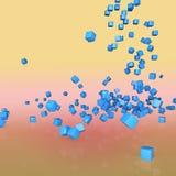 niebieskie kostki Zdjęcie Stock