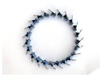 niebieskie kręgów klamry Obraz Royalty Free