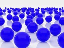 niebieskie kule Zdjęcie Stock
