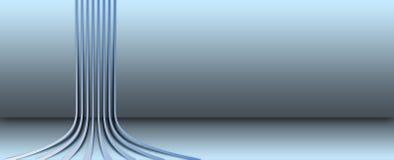 niebieskie linie ściana Zdjęcie Stock