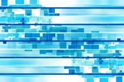Niebieskie linie i kwadratowy abstrakcjonistyczny tło. Zdjęcia Royalty Free