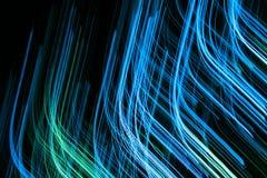 niebieskie linie nowoczesnych abstrakcyjnych Obraz Royalty Free