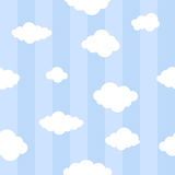 Niebieskie linie z chmury bezszwowym tłem Zdjęcia Stock