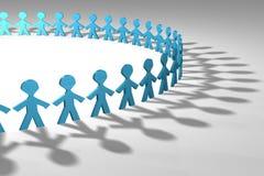 niebieskie ludzi 3 d Fotografia Stock