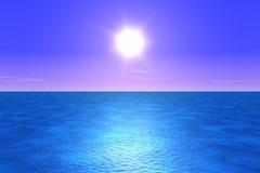 niebieskie morze royalty ilustracja