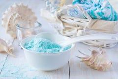 niebieskie morze soli Obrazy Royalty Free