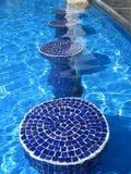 niebieskie mozaika basen siedzenia Zdjęcie Royalty Free