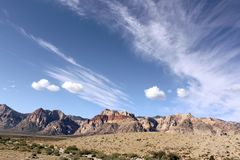 Niebieskie nieba przy Redrock jarem Las Vegas Nevada Fotografia Royalty Free