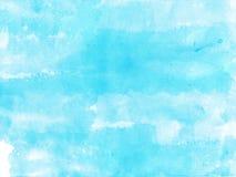 Niebieskie niebo akwareli tło Fotografia Royalty Free