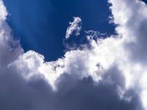 niebieskie niebo ani białe Fotografia Stock