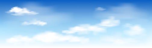 niebieskie niebo białe chmury ilustracja wektor