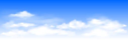 niebieskie niebo bia?e chmury ilustracja wektor