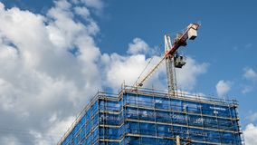 Niebieskie Niebo budowa przy Gosford Wrzesień 2018 obraz stock