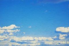 Niebieskie niebo, chmury i słońca światło, Obraz Royalty Free
