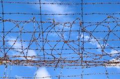 niebieskie niebo drut Zdjęcie Stock