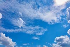 Niebieskie niebo dzień Obraz Royalty Free