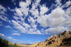 Niebieskie niebo himalaje, ind Obraz Royalty Free