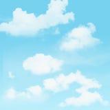 Niebieskie niebo i chmurny Fotografia Stock