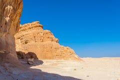 Niebieskie Niebo i góry w Synaj pustyni Fotografia Stock