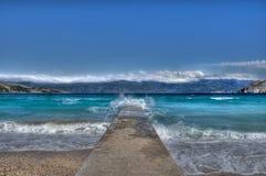 Niebieskie niebo i morze zdjęcie stock
