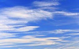 Niebieskie niebo i piękne chmury Obraz Royalty Free