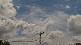 Niebieskie niebo kolorowy chmura dla tła Obrazy Royalty Free