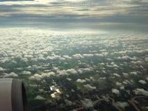niebieskie niebo na samolocie Zdjęcia Stock