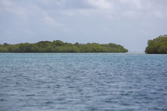 Niebieskie niebo, ocean i dzicy cayos w Morrocoy, zdjęcia royalty free