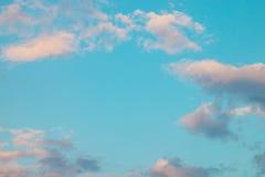 Niebieskie niebo po zmierzchu Fotografia Royalty Free