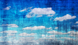 niebieskie niebo rocznik Obrazy Royalty Free