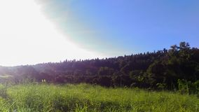 Niebieskie niebo w mój domu fotografia stock