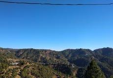 Niebieskie niebo w ranku Fotografia Royalty Free