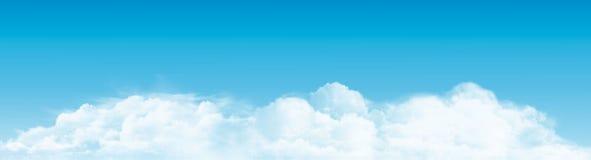 Niebieskie niebo z chmury panoramą wektor royalty ilustracja