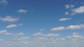Niebieskie niebo z chmury timelapse zbiory wideo
