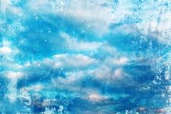 Grunge niebo z chmurami obraz stock